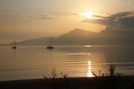 Früh morgens in der Bucht von Calvi / Korsika