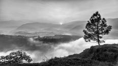 Tagesanbruch im Himalya-Vorland