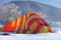 Startvorbereitung des Heißluftballons