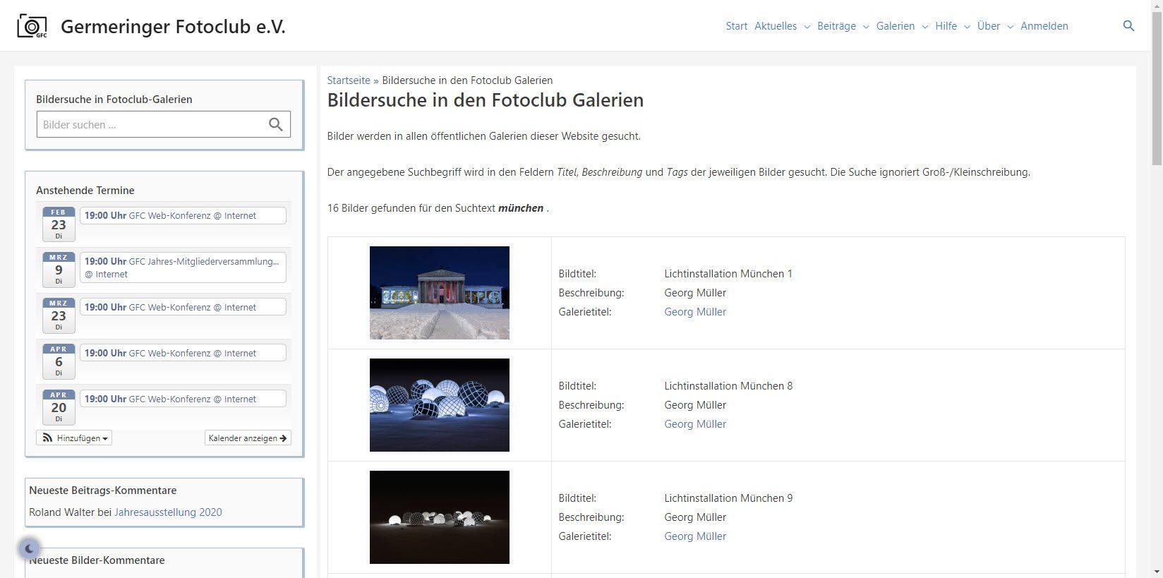 Bilder-Suchfunktion