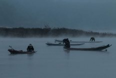 Fischer auf dem Mekong (Annahme)