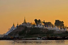 Goldene Stunde am Ayeyarwadi