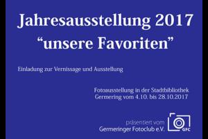 Ankündigung Jahresausstellung 2017
